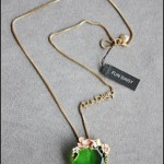 Yiwu necklace with green jewelry