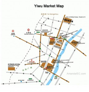 Yiwu market map