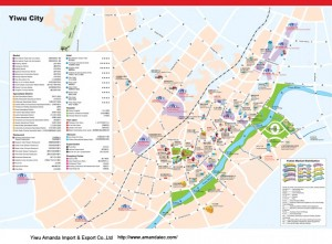 Yiwu city map